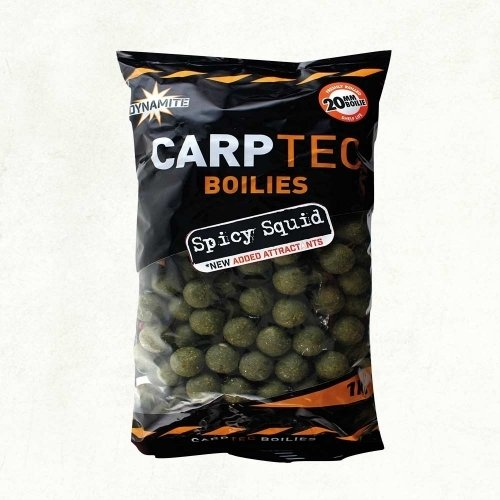 Dynamite Baits Carptec Spicy Squid etetőbojli