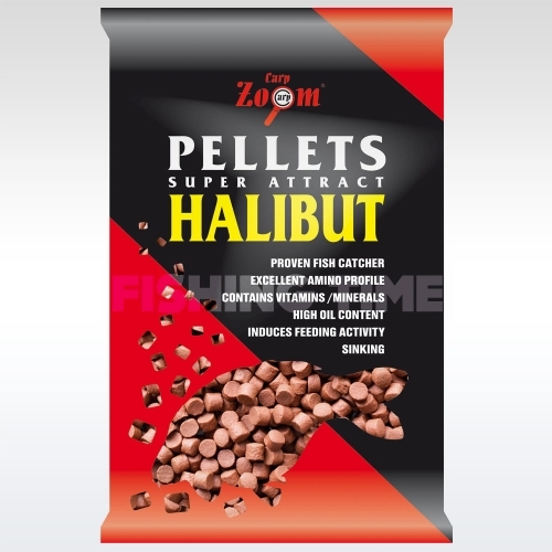 Carp Zoom Feeding Red Halibut Pellets furat nélküli Red halibut etetőpellet