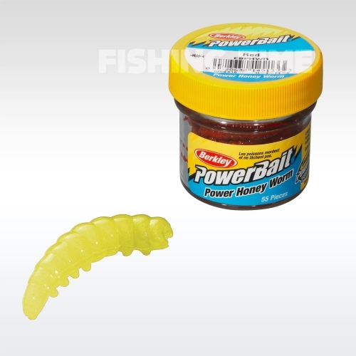 Berkley Powerbait Honey Worms lárvaimitáció Hot Yellow