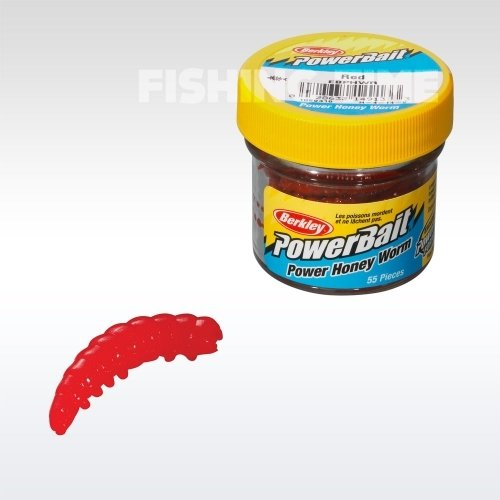 Berkley Powerbait Honey Worms lárvaimitáció Hot Orange