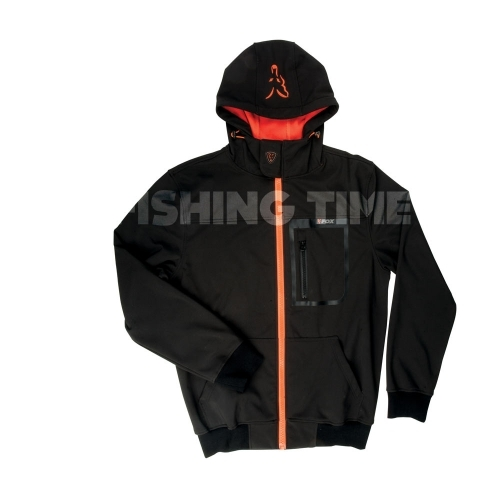 Fox Black / Orange Shoftshell Hoodie