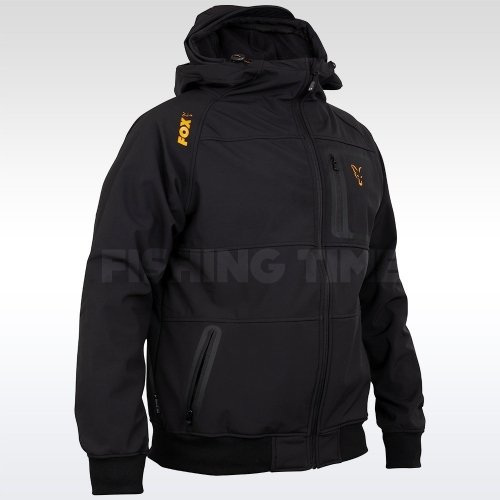 Fox Coll Black Orange Shell Hoodie