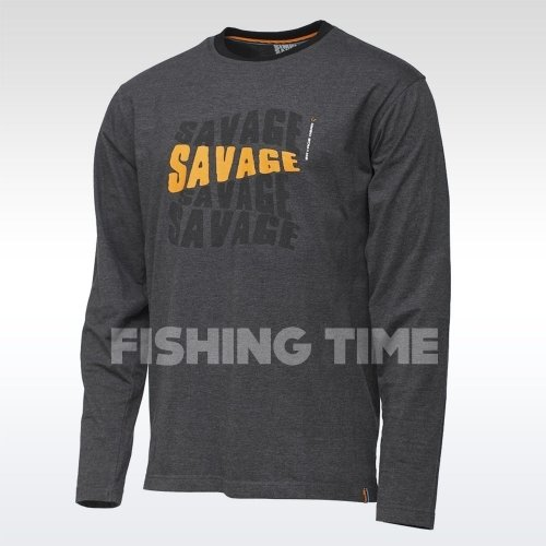 Savage Gear Simply Savage Logo Tee Long Sleeve hosszúujjú póló