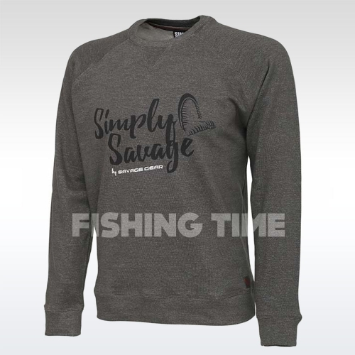 Savage Gear Simply Savage Sweater Melange Grey pulóver