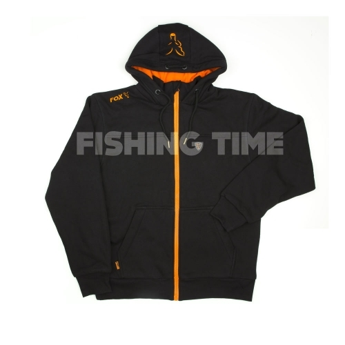 Fox Black / Orange Heavy Lined Hoodie