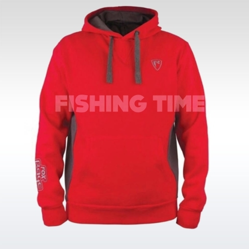 Fox Rage Red / Grey Ribbed Hoody