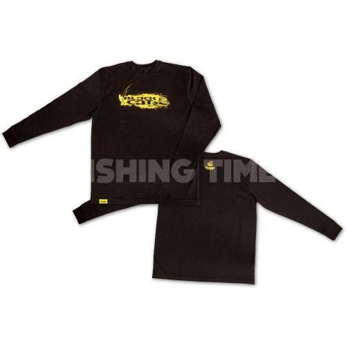 Black Cat Longsleeve Shirt pulóver
