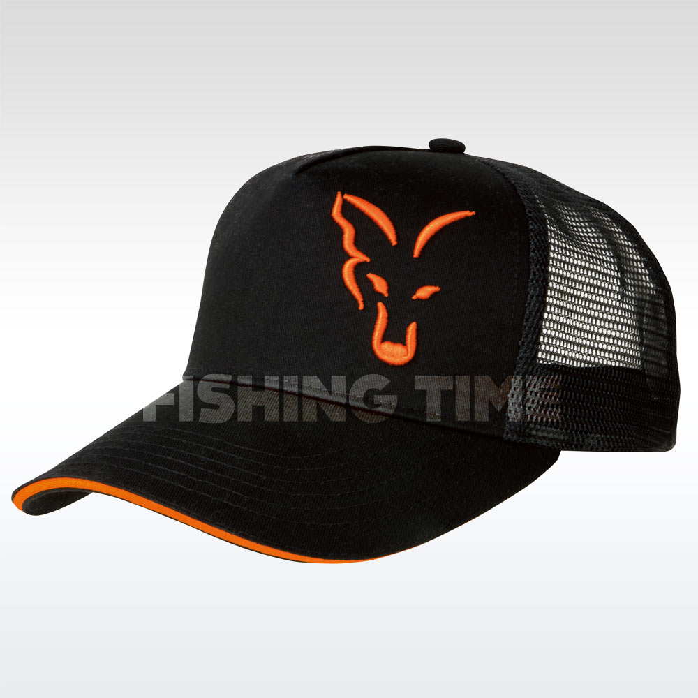 Fox Black/Orange Trucker Cap Sapka