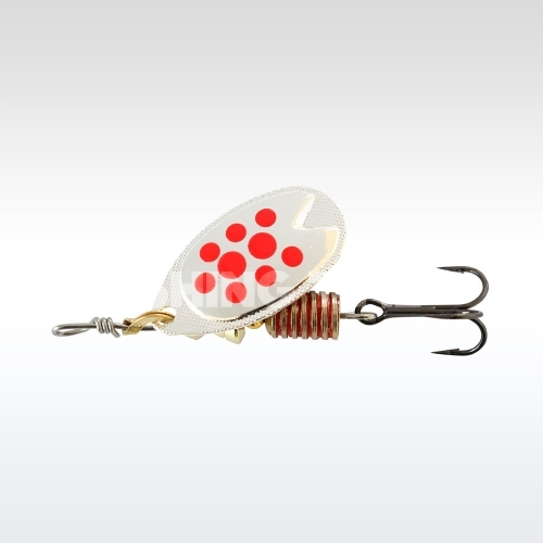 ABU Garcia Fast Attack 5g Silver/red dots