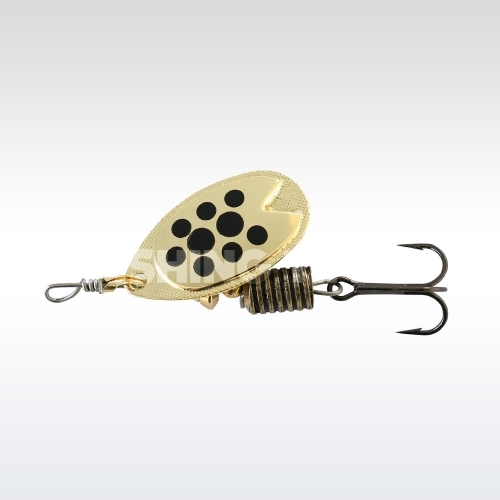 ABU Garcia Fast Attack 5g Gold/ black dots