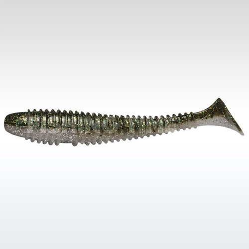 Rapture Ribbed Swing Shad 70 plasztikcsali Smoke Green