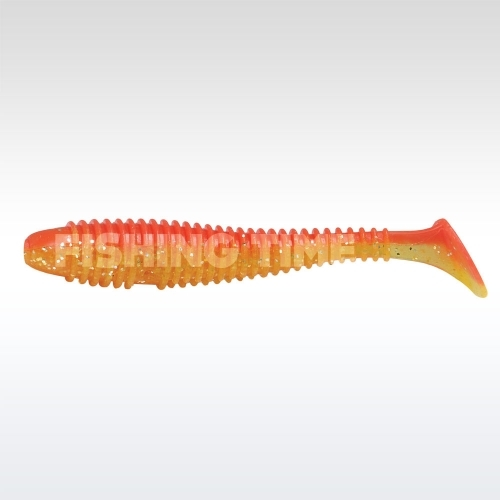 Rapture Ribbed Swing Shad 70 plasztikcsali Red & Yellow