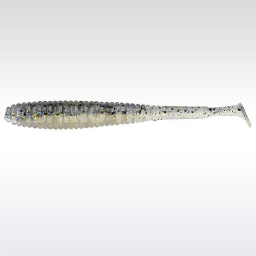 "Illex I Shad Tail 2.8"" Dark Thunder Clear Silver"