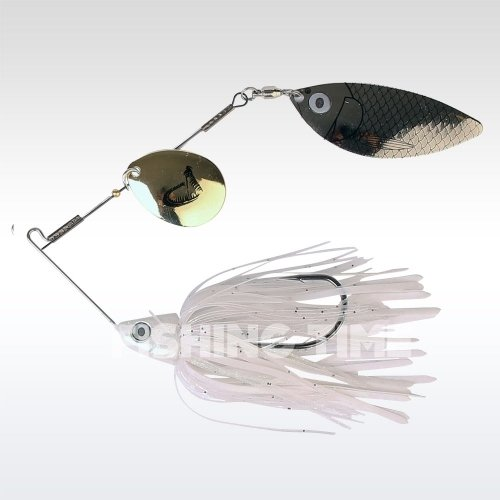 Savage Gear TI-Flex SpinnerBait 10 Holo White Gold silver