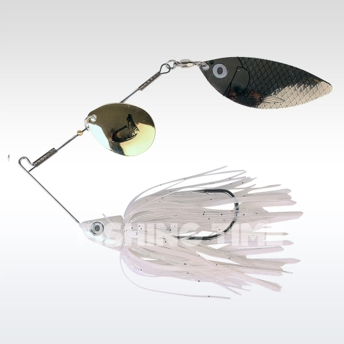 Savage Gear TI-Flex SpinnerBait 12.5 Holo White Gold silver