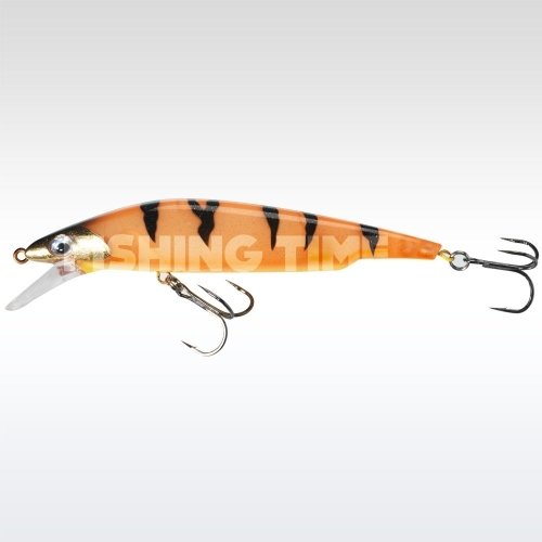 Sebile Bull Minnow 102 FL Orange Fleeing Prey