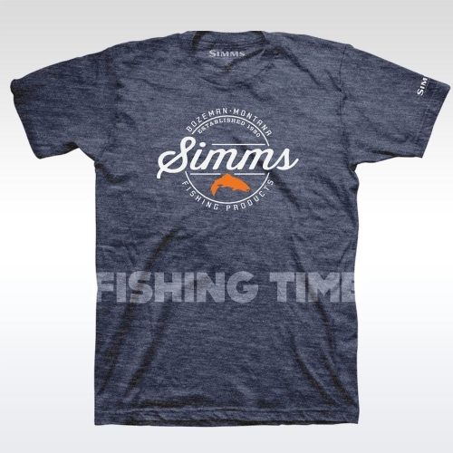 Simms Simms Authentic Navy Heather póló