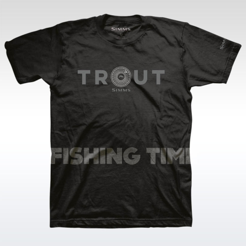 Simms Reel Trout Black póló