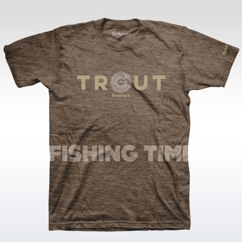 Simms Reel Trout Brown Heather póló