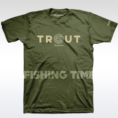 Simms Reel Trout Military póló