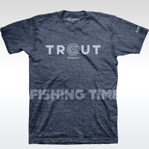 Simms Reel Trout Navy Heather póló