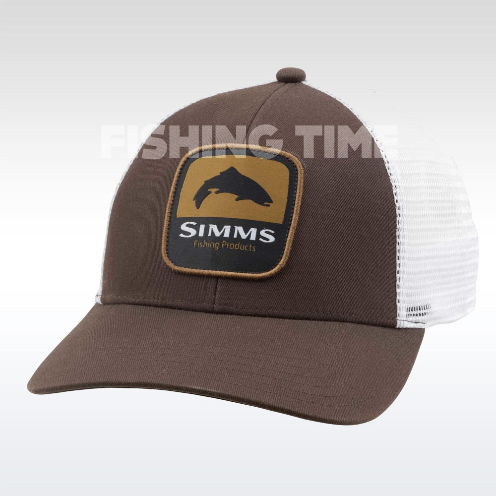 Simms Trout Patch Trucker Bark