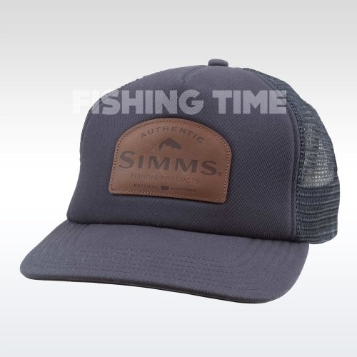Simms Leather Patch Trucker Admiral Blue