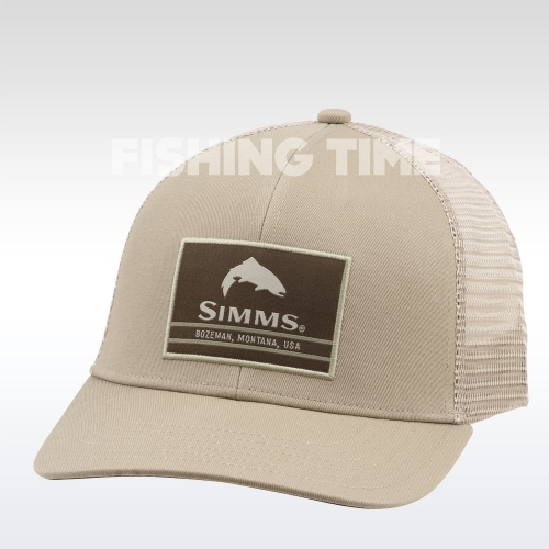 Simms Original Patch Trucker Tan