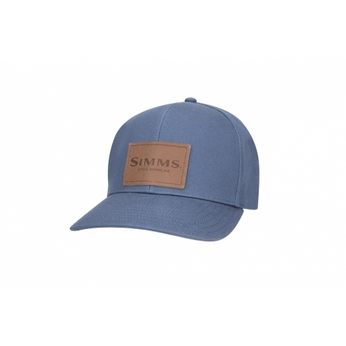 Simms Leather Patch Cap Dark Moon