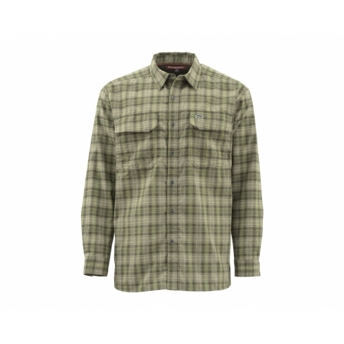 Simms ColdWeather Shirt Covert Plaid UPF 50