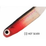 Rapture Mini Minnow Shad Tail 45mm Hot Silver lágygumi csali (6db)