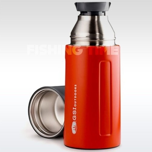 GSI Outdoors Glacier Stainless Vacuum Bottle Red 0.5l termosz