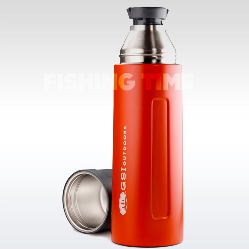 GSI Outdoors Glacier Stainless Vacuum Bottle Red 1l termosz