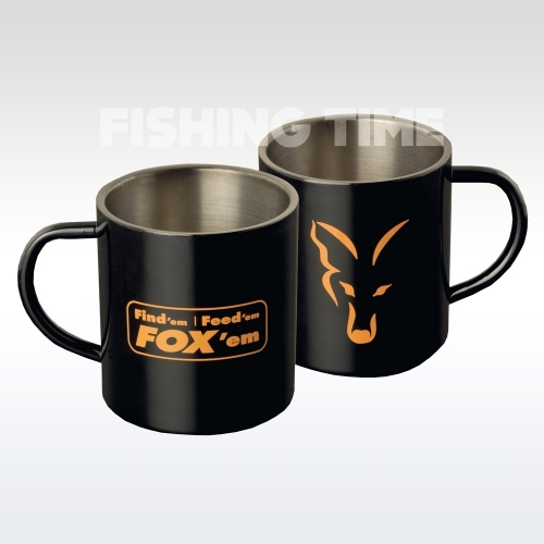 Fox Stainless Black Mug XL bögre