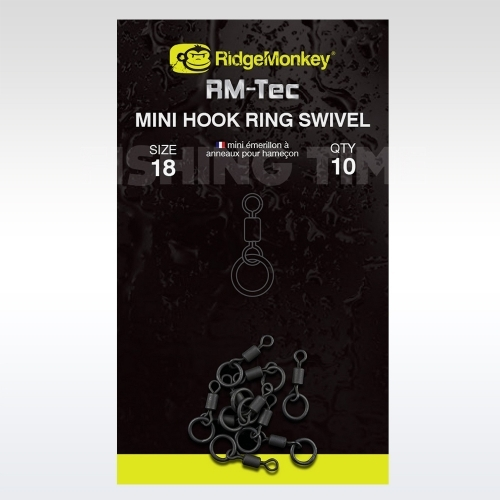 Ridgemonkey RM-TEC MINI HOOK RING SWIVEL MIKRO - karikás forgó