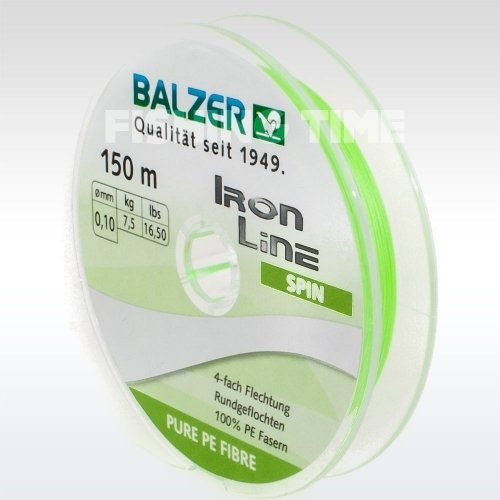 Balzer Iron Line Spin 4 Chartreuse 150m