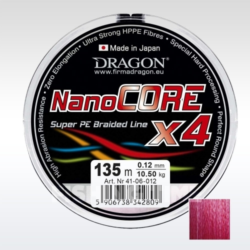 Dragon Nano Core X4 Red 135m fonott zsinór