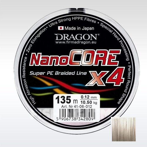Dragon Nano Core X4 Grey 135m fonott zsinór