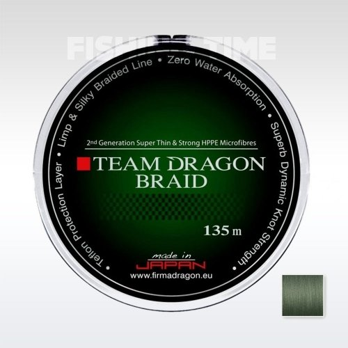 Dragon Team Dragon Green Dark 135m fonott zsinór