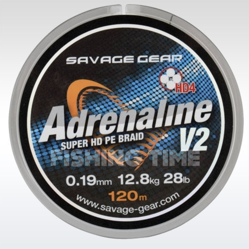 Savage Gear HD4 Adrenaline V2 Grey 120m fonott zsinór