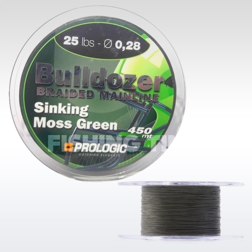 Prologic Bulldozer Braid Moss Green 450m