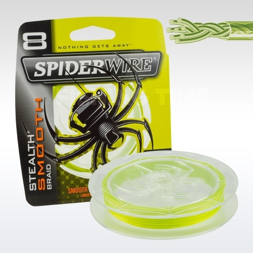 SpiderWire Stealth Smooth 8 Yellow 1800m 8 szálas fonott zsinór