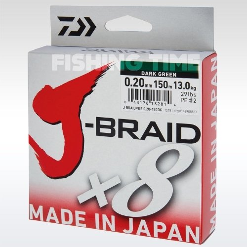 Daiwa J-Braid X8 Green 150m