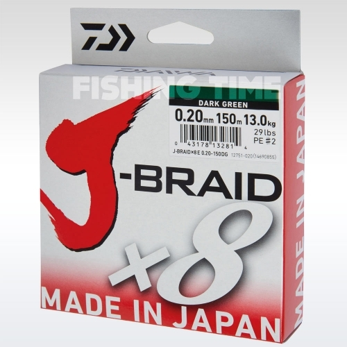 Daiwa J-Braid X8 Green 1000m