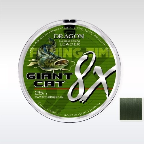 Dragon Giant Cat 8X Leader 25m fonott előkezsinór