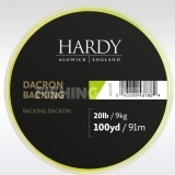 Hardy Backing 20lb 100 Yards Lime Green alátétzsinór