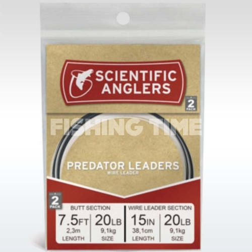 Scientific Anglers Predator 7.5' AR Tapered Leader w/15'' 20 lb 1x7 Wire
